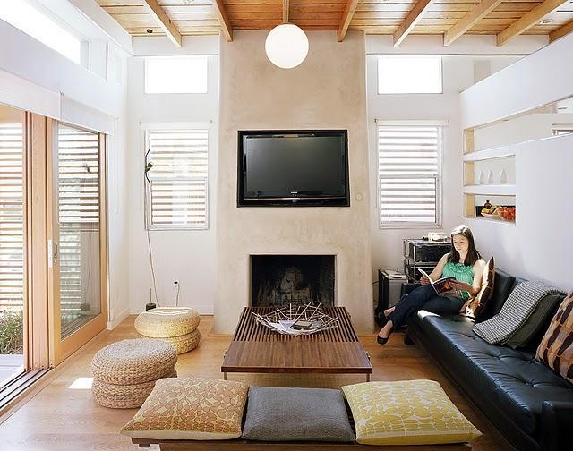Insp rate sof s de cuero negro en el sal n paperblog - Salones con sofa negro ...