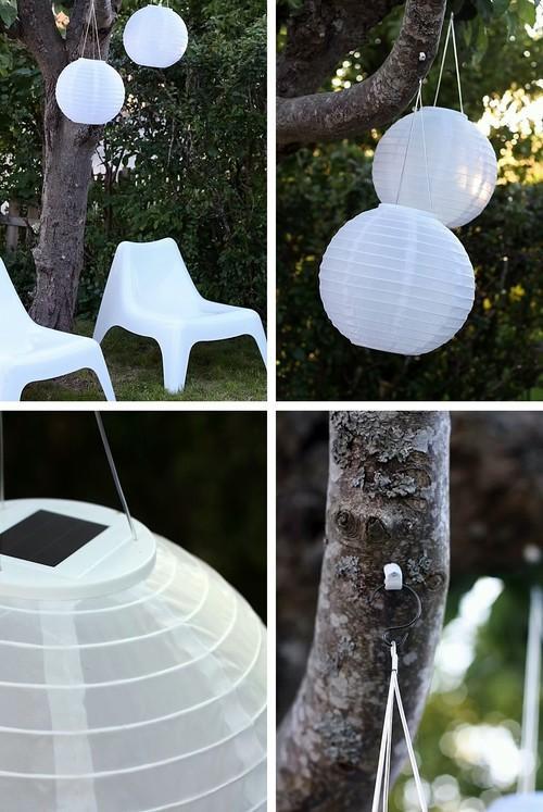 Idea para iluminar espacio exterior l mparas de papel for Lamparas exterior ikea
