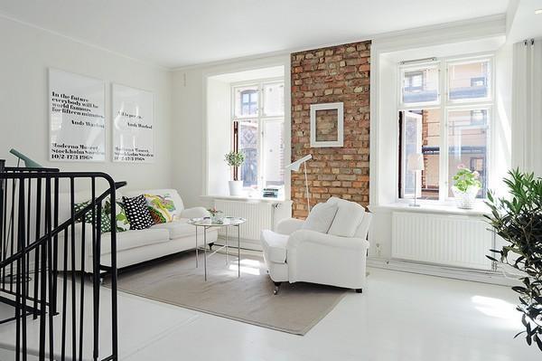 Marcos Blancos en un salón con paredes blancas - Paperblog
