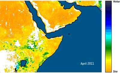 La sequía del Cuerno de África vista desde el espacio