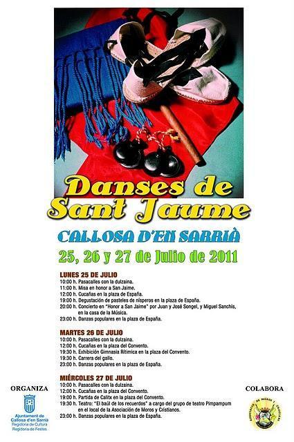 Callosa d'en Sarrià. Danses de Sant Jaume 2011