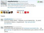 alcanzamos primeros seguidores (followers) Twitter ¡Gracias! @arquitectonico