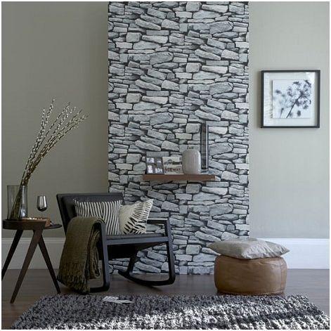 Una falsa pared de piedra.