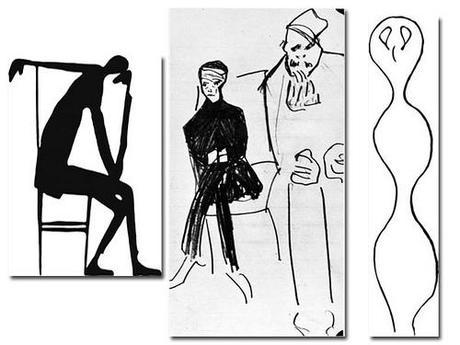 Dibujado por Kafka.