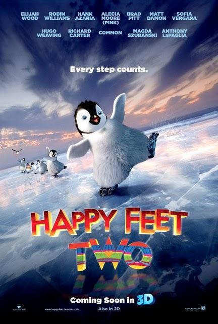 Póster oficial de 'Happy Feet 2'