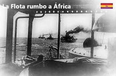 LA FLOTA PARTE RUMBO ÁFRICA, COMUNICADOS DURANTE LA RUTA