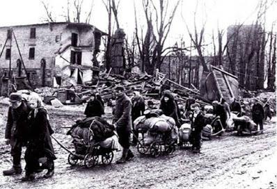 El éxodo europeo del fin de la Segunda Guerra Mundial