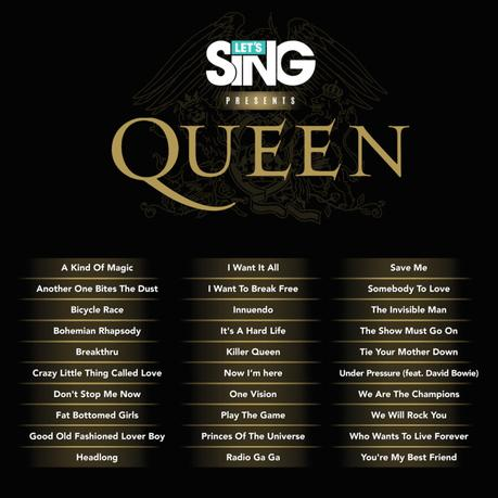 Let's Sing presents Queen anuncia su listado de canciones
