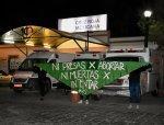 Galería: Con pañuelos verdes amanece San Luis Potosí