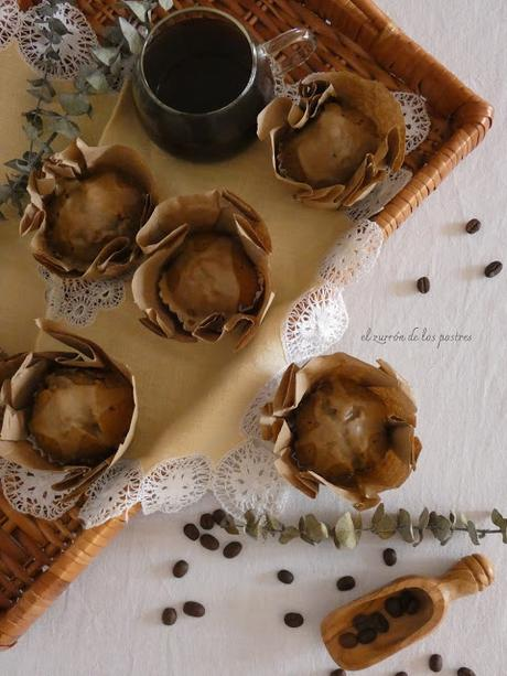 Magdalenas de Café con glasa