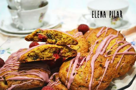 Cookies de chocolate y frambuesa