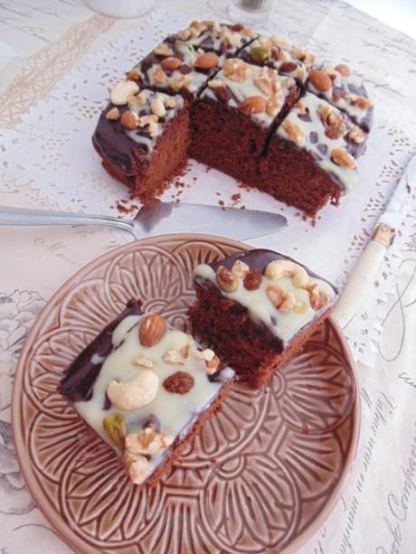Chocolate & canela traybake