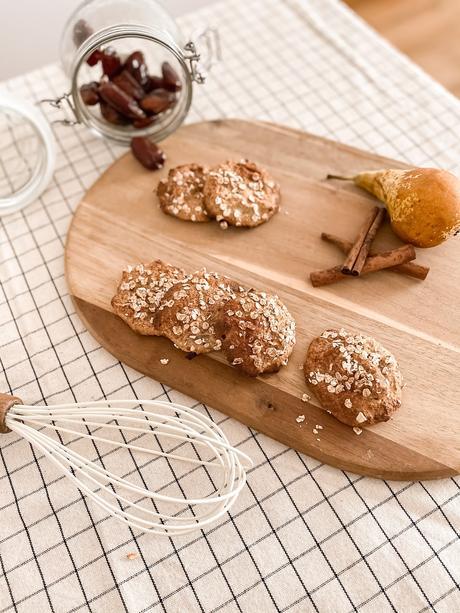 Galletas de avena, pera y dátiles