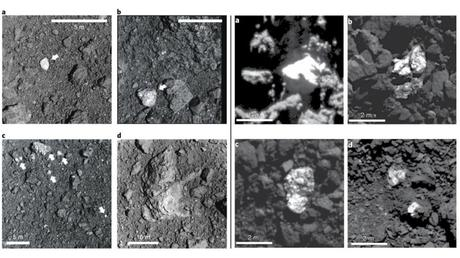 Descubren trozos de unos asteroides entre el material de otros