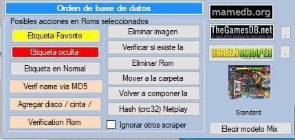 Sección cambios masivos de ARRM con Batocera