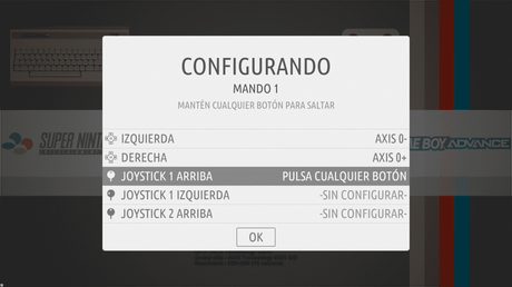 Configuración de un mando en consola retro