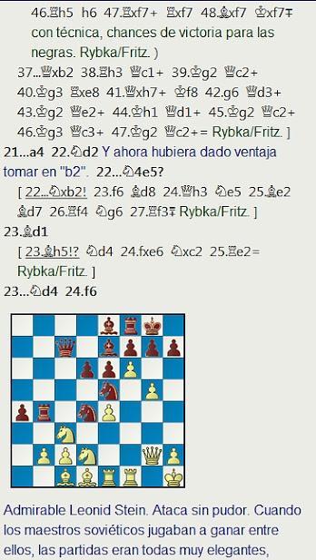 Grandes combates canarios (18) - Stein vs Petrosian, Las Palmas (14) 1973