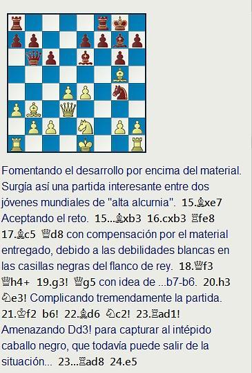 Grandes combates canarios (19) - Beliavsky vs Guillermo García, Las Palmas (1) 1974