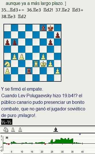 Grandes combates canarios (20) - Polugaevsky vs Andersson, Las Palmas (1) 1974