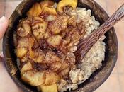 Porridge avena manzana canela Vegano Gluten
