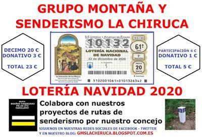 LOTERIA NAVIDAD GRUPO MONTAÑA LA CHIRUCA