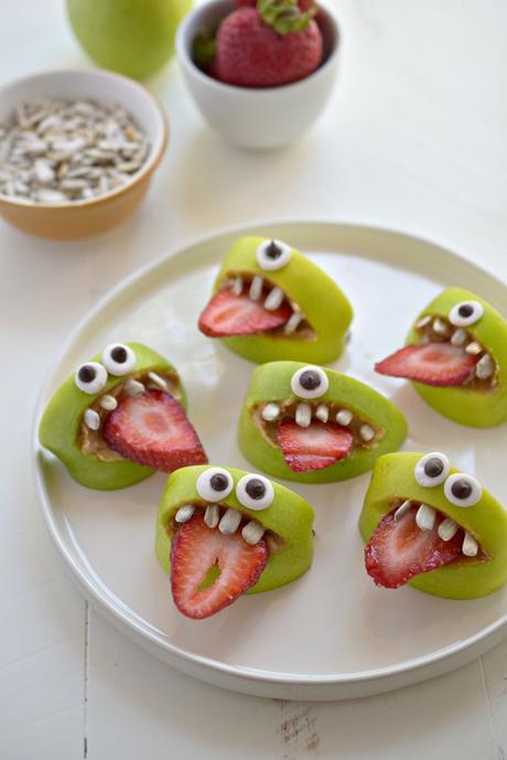 Receta de Halloween - monstruos de manzana