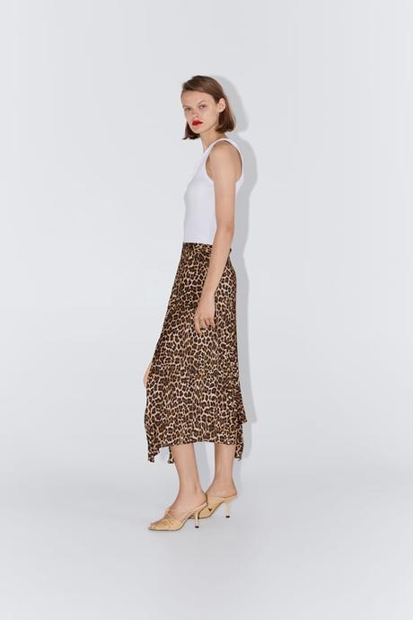 Zara Falda Animal Print