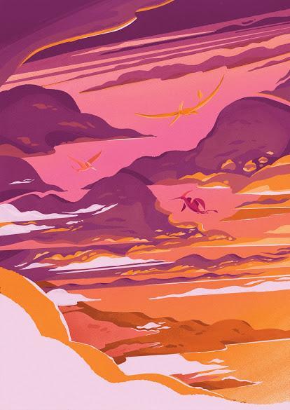 Los paisajes mesozoicos de Harry Goldhawk