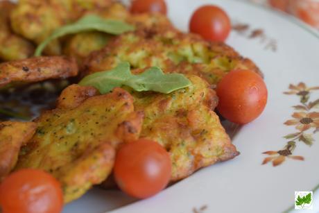 Tortillitas de Brócolis y Queso Azul