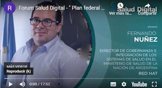 Vea nuevamente la sesión de Fernando Nuñez sobre el Plan Federal de Salud Digital