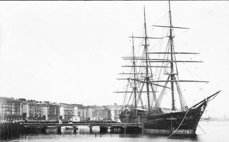 La Fragata Don Juan en el Muelle de Albareda
