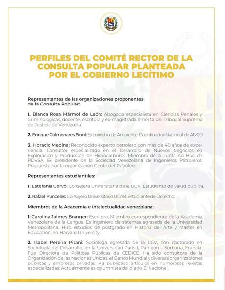 Juan Guaidó juramentó a los miembros del Comité Organizador de la Consulta Popular