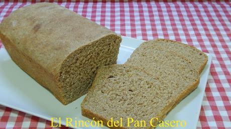 Receta fácil de pan de molde integral con harina de espelta 100%