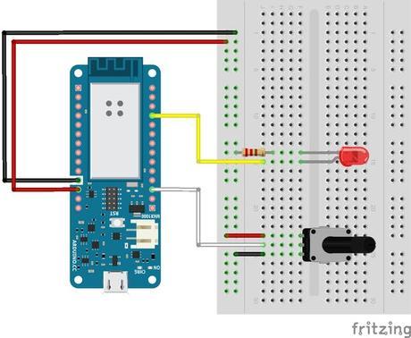 Controlar  un potenciometro con Arduino Iot Cloud