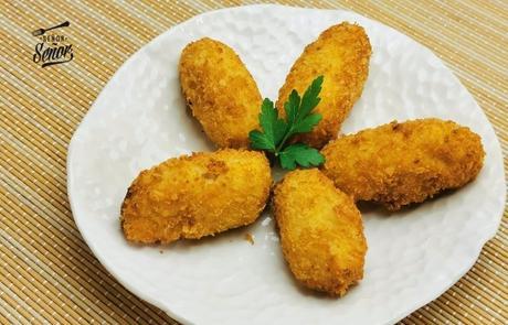Croquetas de bacalao caseras, suaves y deliciosas