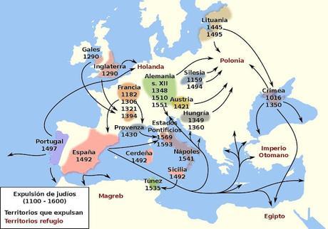 EXPULSIONES Y PERSECUCIONES DE JUDÍOS EN EUROPA ANTES DE 1492