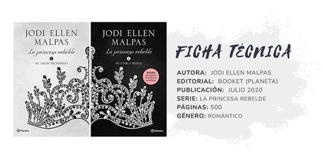 Reseña bilogía: LA PRINCESA REBELDE - Jodi Ellen Malpas