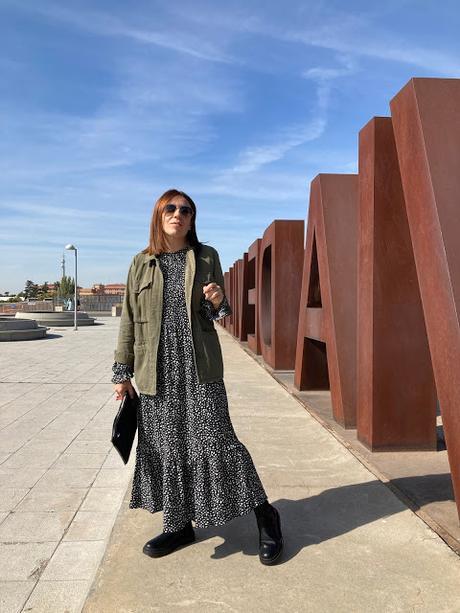 LONG DRESS + PARKA.-