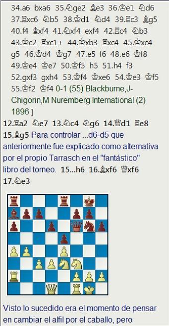El baúl de los recuerdos (6) - Blackburne vs Tarrasch, Nuremberg (6) 25.07.1896
