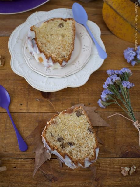 Bundt Cake de queso, membrillo y nueces