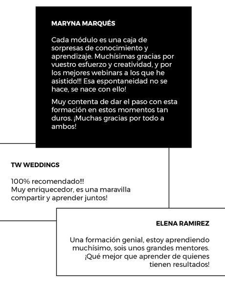 Opiniones sobre el Curso online de wedding planner de Bodas de Cuento