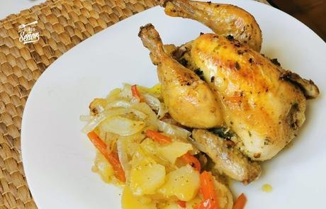 Picantones al horno, un asado suave y delicioso
