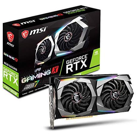 MSI GeForce RTX 2060 Super Gaming X - Tarjeta gráfica (8 GB, GDDR6, 256 bit, 7680 x 4320 pixeles, PCI Express x16 3.0)
