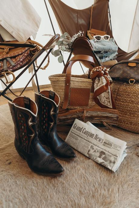 Collage Vintage Cowboy Closet for Fall Winter