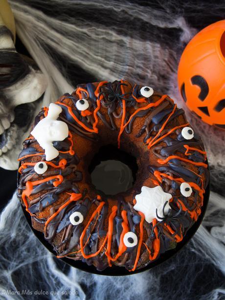 Halloween Rainbow Bundt Cake