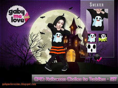 GML's Halloween Clothes for Toddlers • SET (Sims 4)