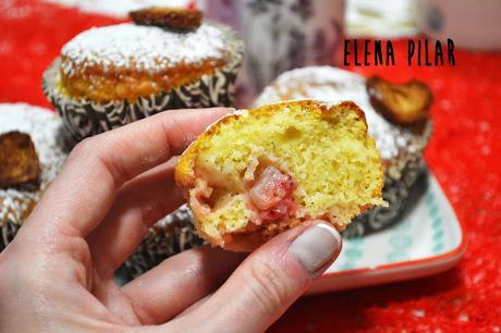 Muffins de fresa, sin huevo, súper ligeros y con opción vegana
