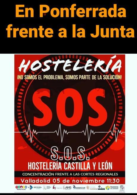 La hostelería berciana lanza un S.O.S. con una concentración el próximo jueves ante la Delegación de la Junta de Castilla y León en Ponferrada