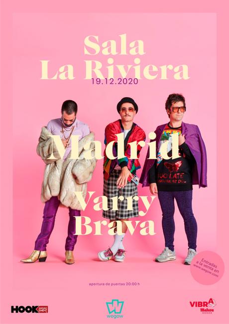 Varry Brava presentarán nuevo disco en La Riviera madrileña