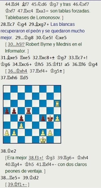 El baúl de los recuerdos (17) - Gaprindashvili vs Tarjan, Lone Pine op (2) 1977
